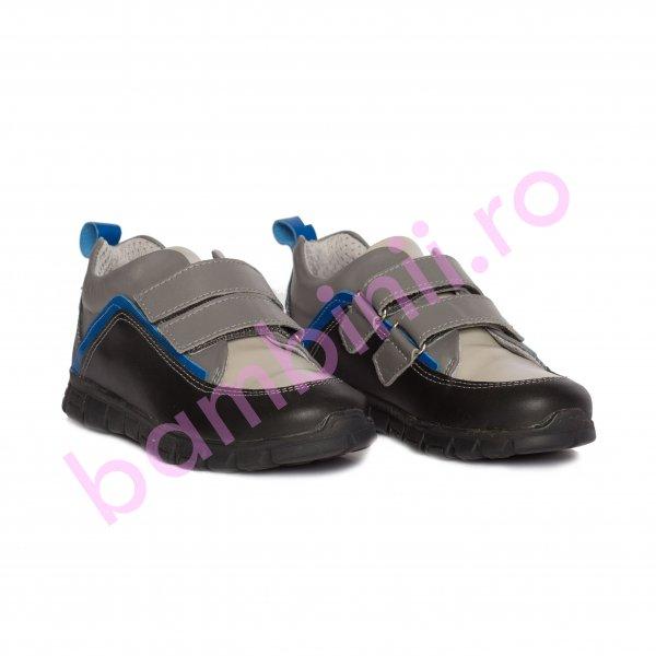 Pantofi copii sport pj shoes Salvatore negru gri 27-36