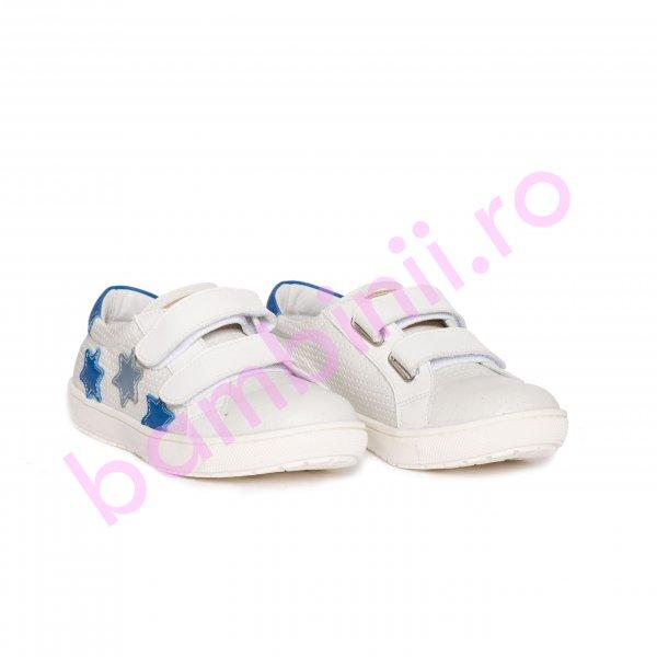 Pantofi copii sport pj shoes Skate alb blu 27-36