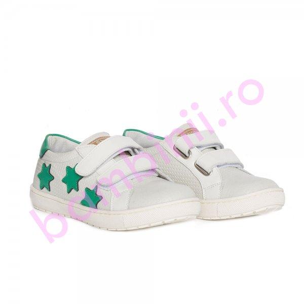 Pantofi copii sport pj shoes Skate alb verde 27-36