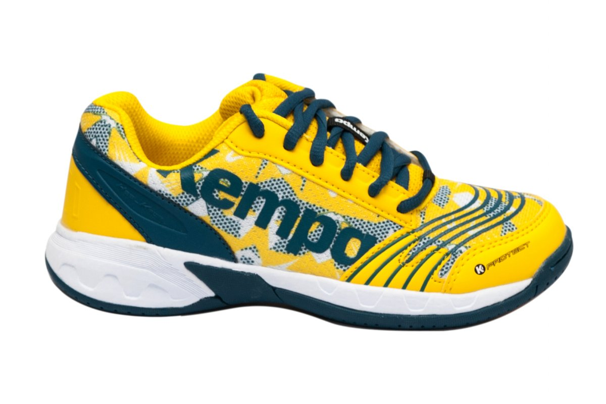 Pantofi copii sport sala Kempa Attack Jr 2017 galben albastru 28-39