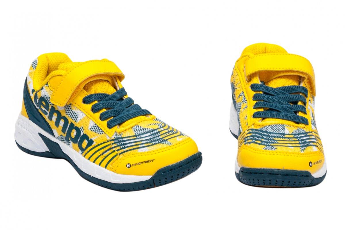 Pantofi copii sport sala Kempa Attack Jr 2017 galben arici 28-33