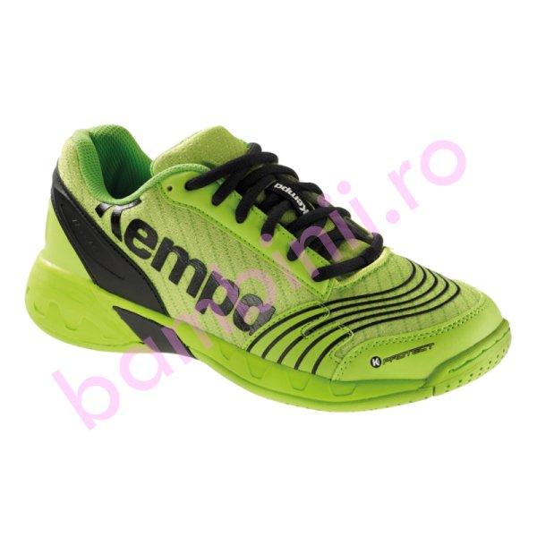 Pantofi copii sport sala Kempa Attack Jr 2017 verde 28-39
