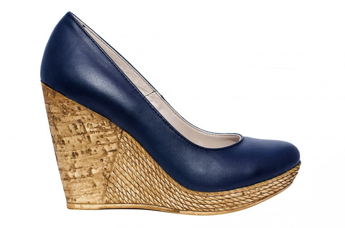 Pantofi cu platforma dama 569 blu 36-40
