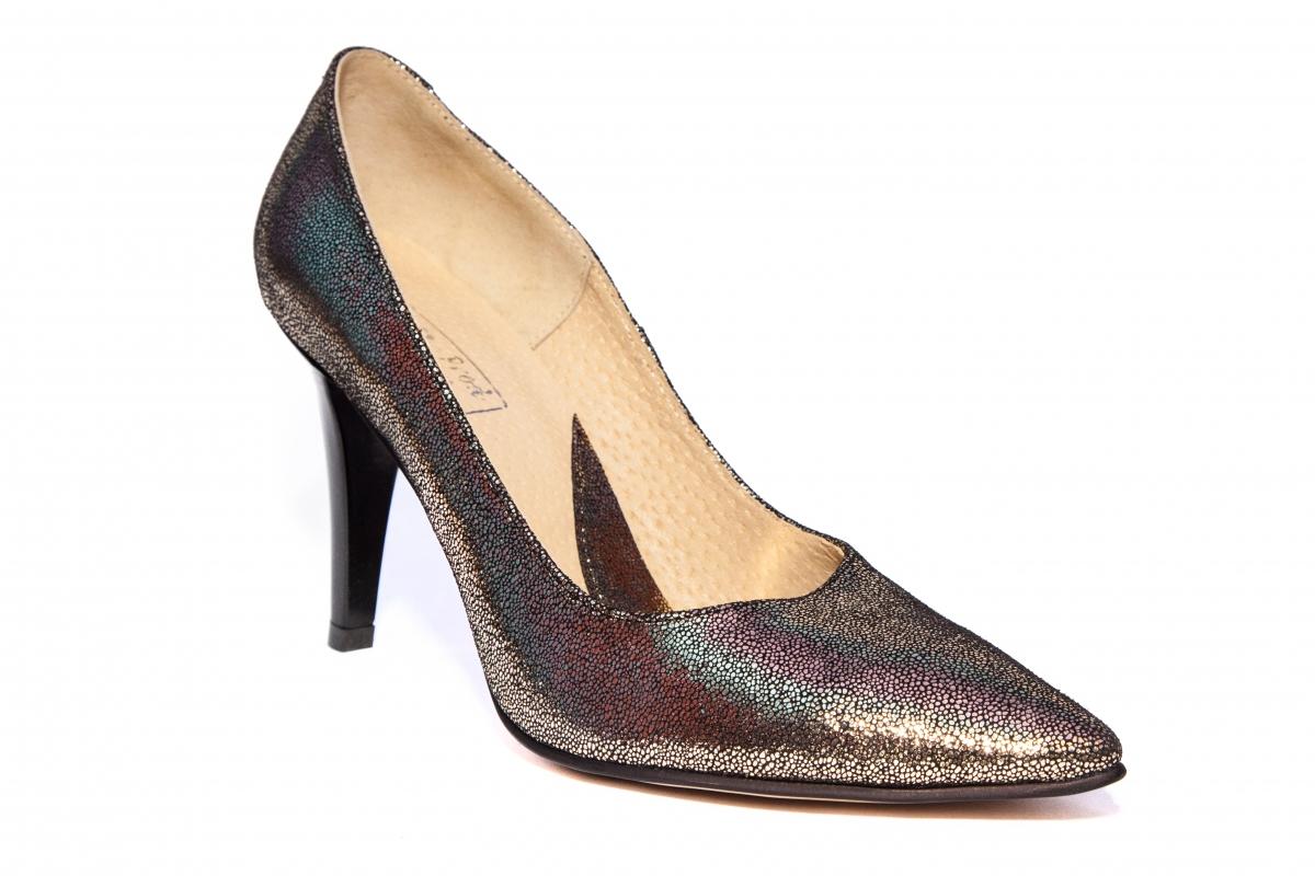 Pantofi cu toc dama stileto 004 auriu 34-40