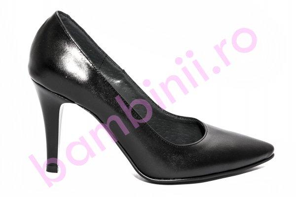 Pantofi dama cu toc 004 negru box 34-41