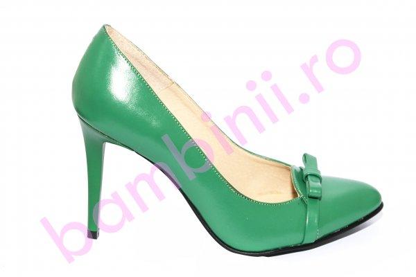 Pantofi dama cu toc 040.4 verde 34-40