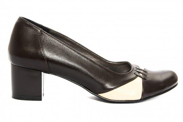 Pantofi dama cu toc 219.7 maro bej