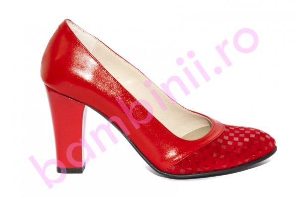 Pantofi dama cu toc 291 a rosu 34-40