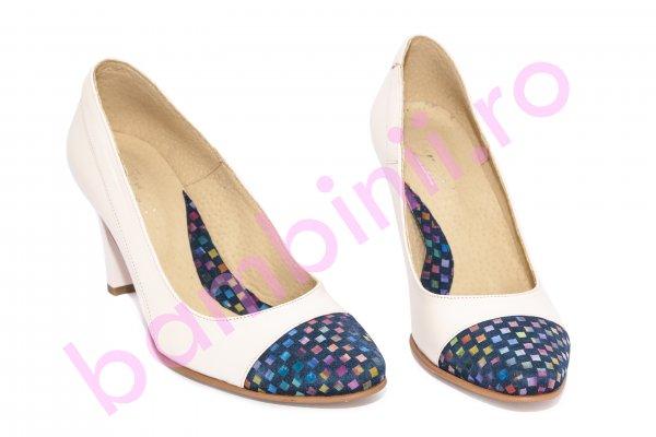 Pantofi dama cu toc 576 roz pal lux 34-41