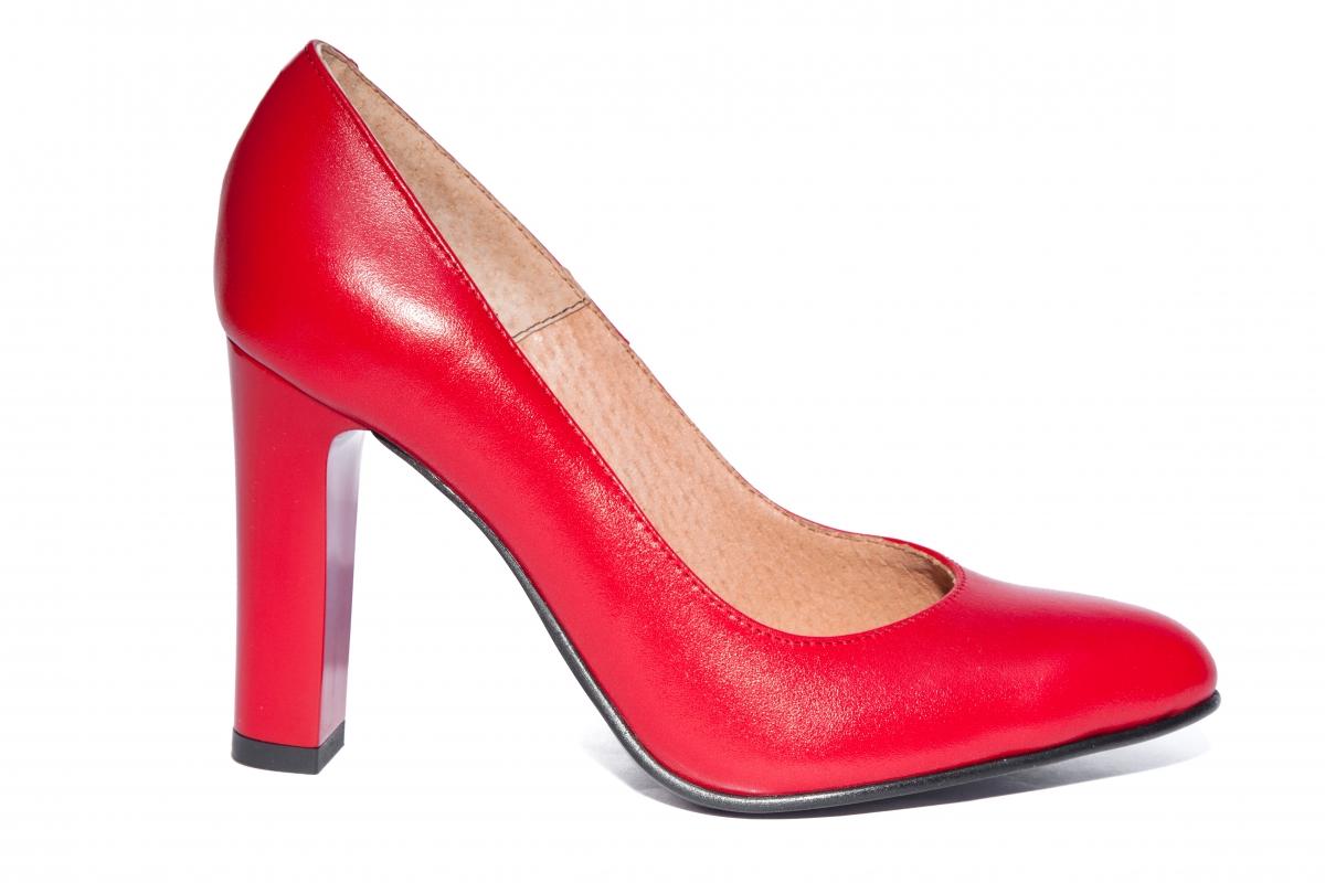 Pantofi dama cu toc 952 rosu 34-40