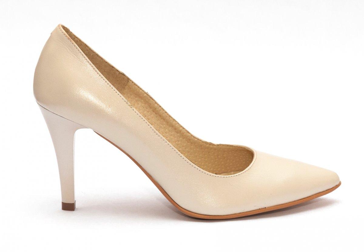 Pantofi dama cu toc stileto 004 bej 34-40
