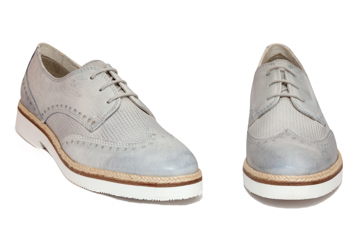 Pantofi dama piele 12302 gri 36-42