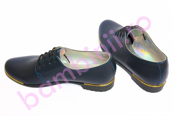 Pantofi dama piele 60 bleumarin box 34-41
