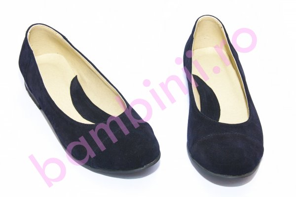 Pantofi dama piele intoarsa 45 blu 34-41
