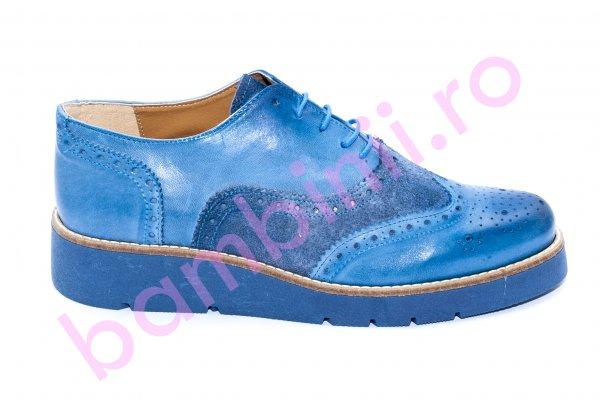 Pantofi dama piele naturala 110 albastru 35-41