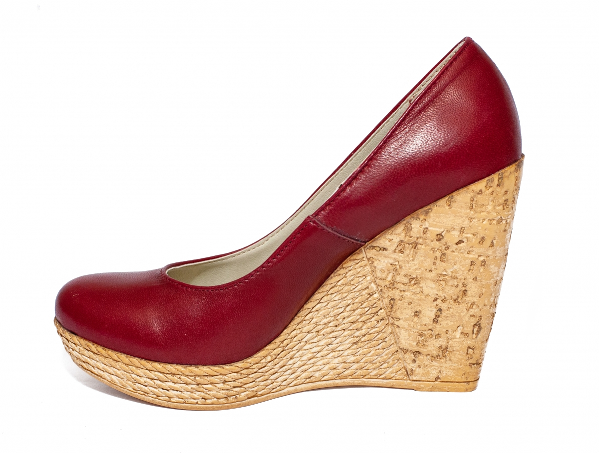 Pantofi dama platforma 569 Tisa bordo 35-41