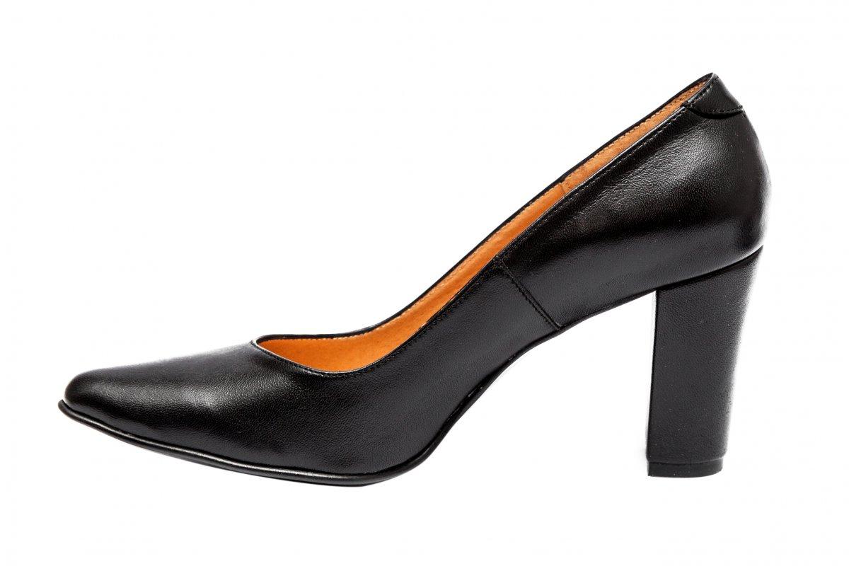 Pantofi dama toc gros 720 negru 34-40