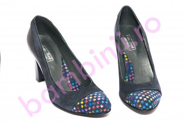 Pantofi dama cu toc 952.1 blu 34-41