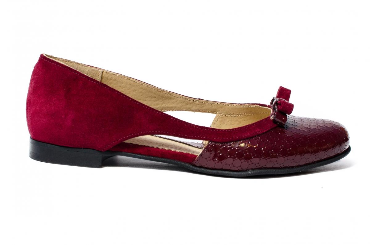 Pantofi decupati dama 026D grena 34-41