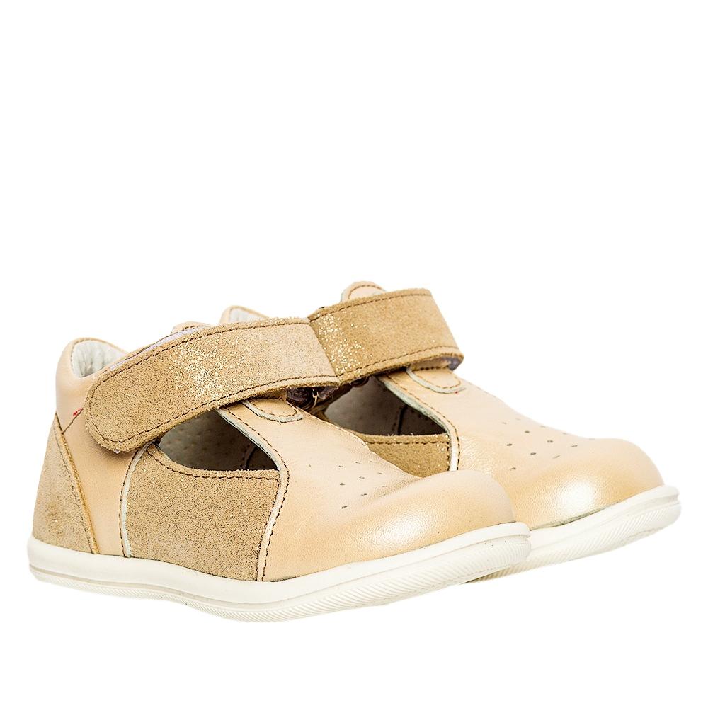 Pantofi decupati fete pj shoes Pablo bej lux 18-26