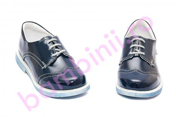 Pantofi eleganti copii hokide 207 blu lac 26-37