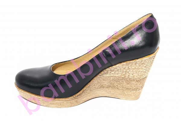 multiple culori magazine populare ieftin Pantofi femei cu platforma din piele 272 blu 34-41. Incaltaminte ...