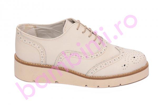 Pantofi femei piele naturala 110 bej 35-41