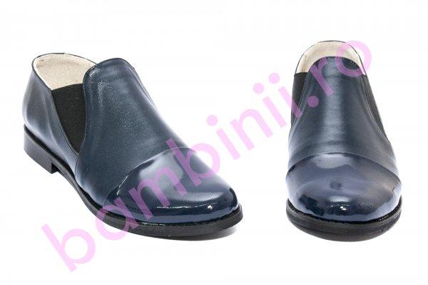 Pantofi femei piele naturala DC5a blumarin lac 34-41