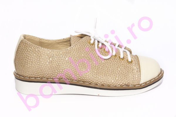 Pantofi fete 1384 bej bej lux 26-36