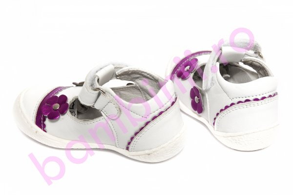 Pantofi fete Pj Shoes Star alb 20-26