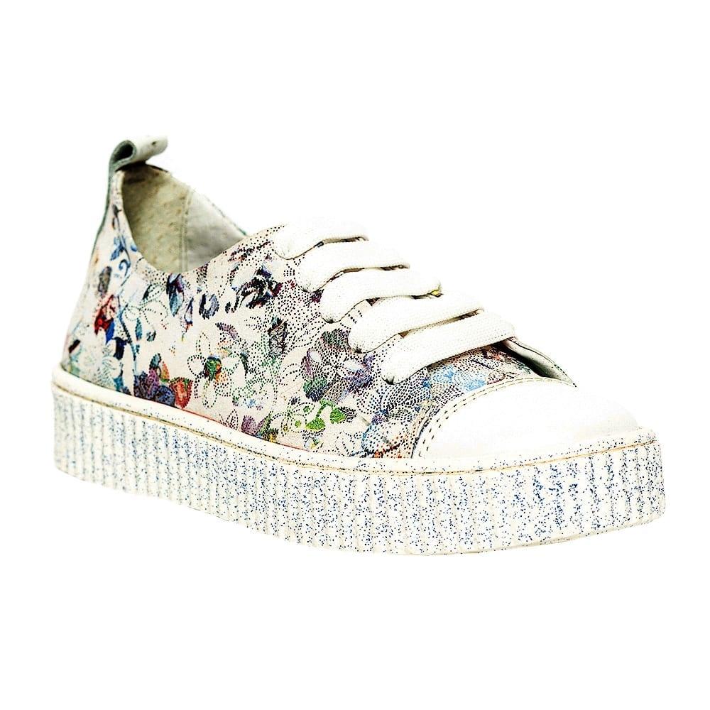 Pantofi fete Pj shoes Asia alb print 27-38