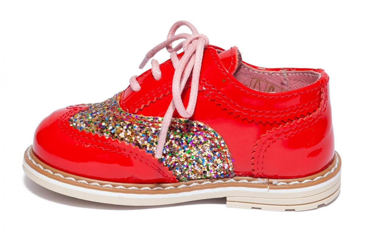 Pantofi fete avus 801 rosu lac 20-30