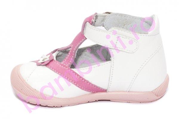 Pantofi fete cu glezna hokide 307 alb lila 18-24