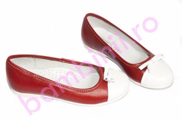 Pantofi fete hokide 330 rosu alb