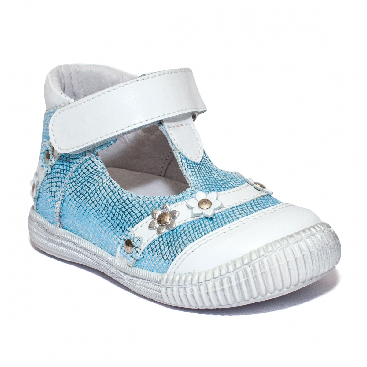 Pantofi fete inalt pe glezna 403 alb azur 18-25
