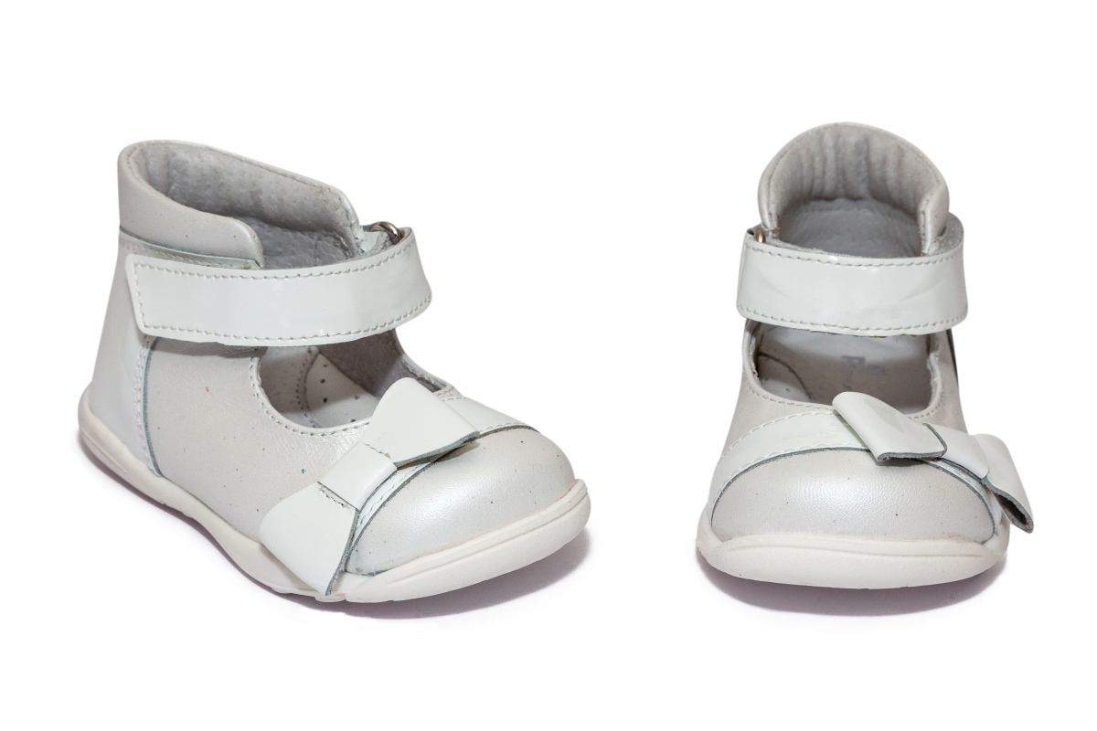 Pantofi fete inalt pe glezna pj shoes Beka alb 18-26