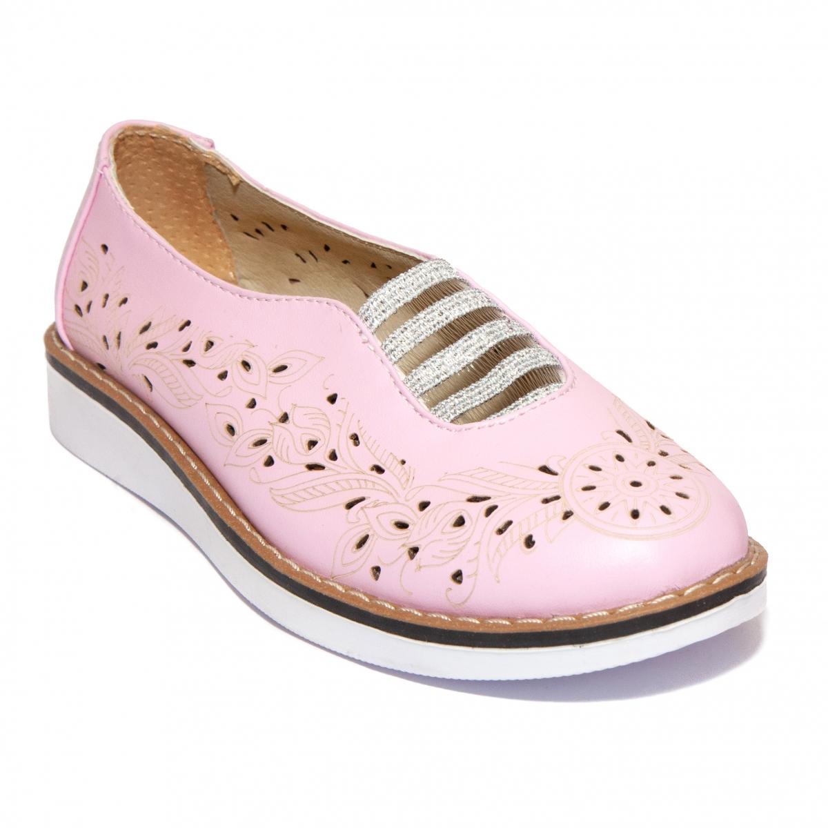 Pantofi fete perforati laser 1907 lila 26-40