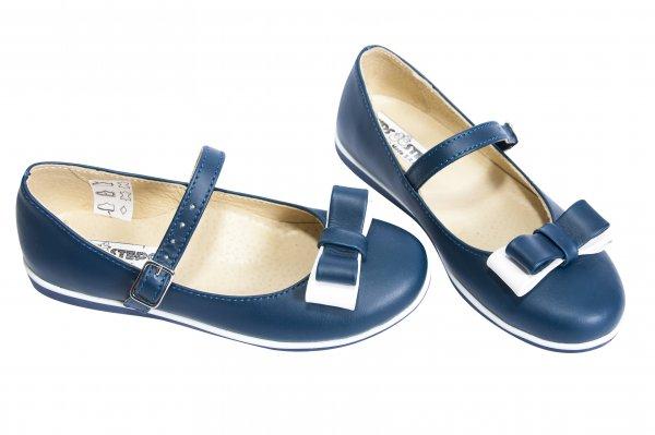 Pantofi balerini fete 1326 albastru alb 26-36