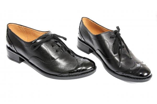 Pantofi fete piele 2449 negru 34-41