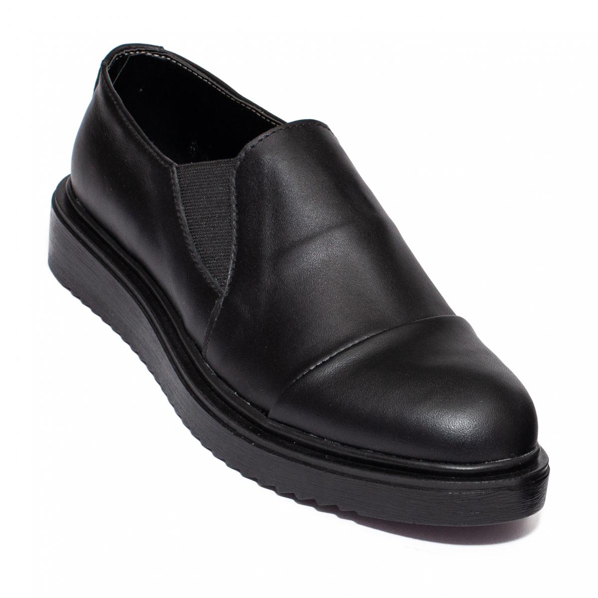 Pantofi dama piele DC55 negru box 34-41