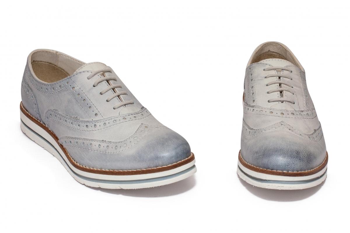 Pantofi fete piele Leone 2311 gri 36-42