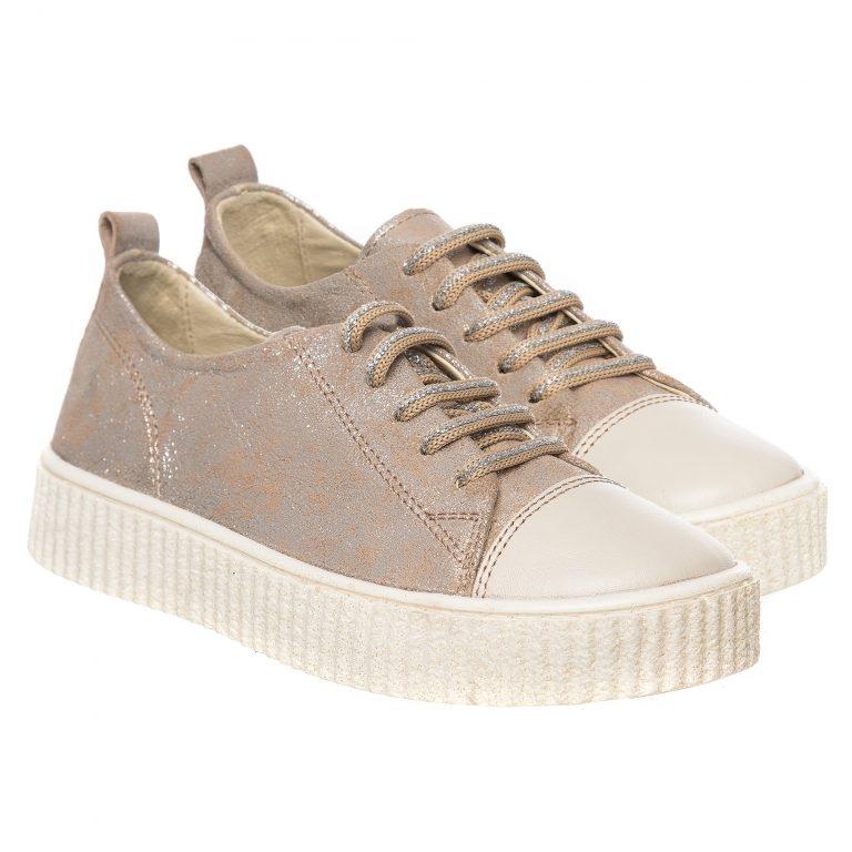 Pantofi fete piele Pj shoes Asia bronz 27-38