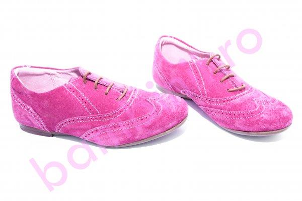 Pantofi fete piele hokide 326 fuxia 26-36