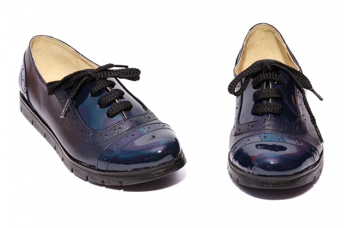 Pantofi fete piele naturala 026s1 blumarin lac 34-41