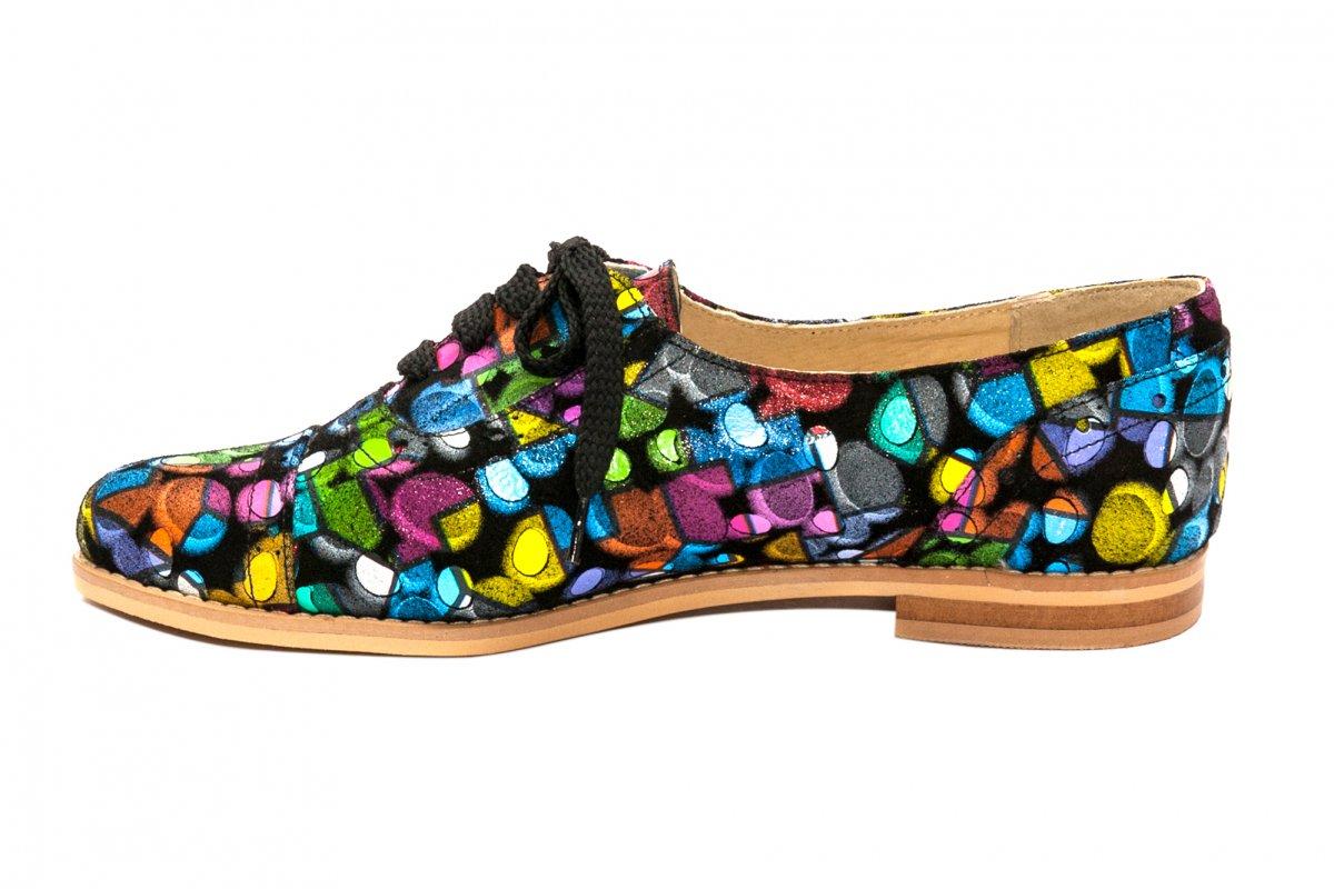 Pantofi fete piele naturala 026s1 pazel 34-41