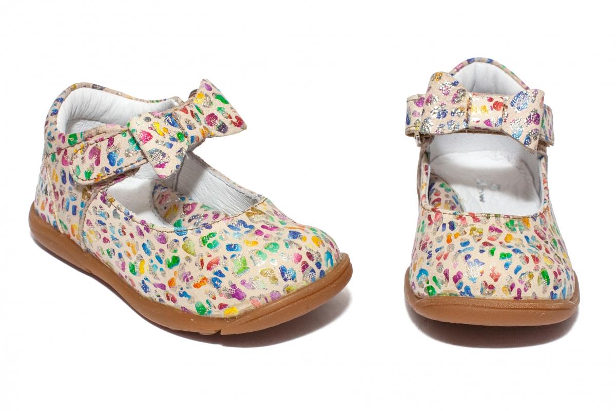 Pantofi fete pj shoes Emma bej print 20-26