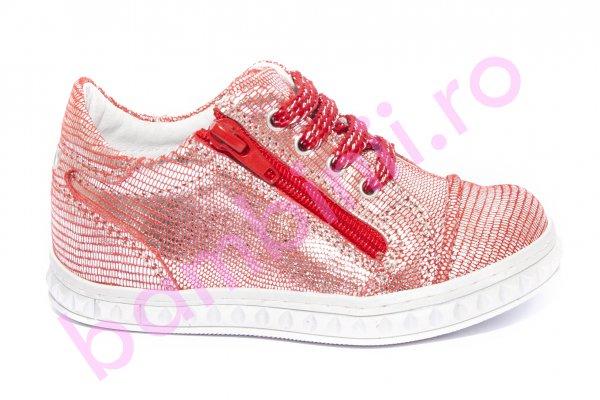 Pantofi fete pj shoes Goal rosu 24-37