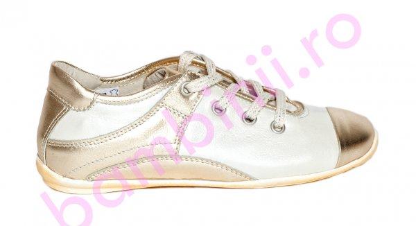 Pantofi fete pj shoes Marika auriu 31-38