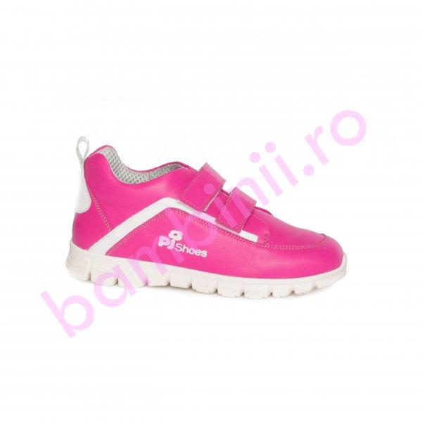 Pantofi fete pj shoes Salvatore fuxia alb 27-36
