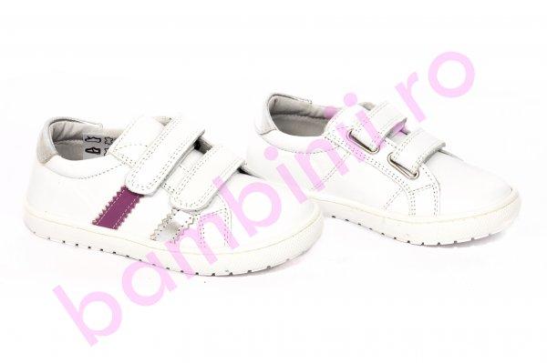 Pantofi fete pj shoes Skate alb rosu 24-37